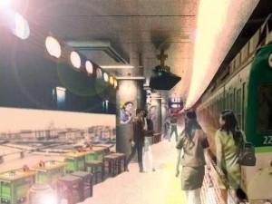 20160525中の島駅ホーム酒場