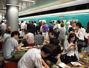 20161125中之島駅ホーム酒場